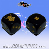 Set of 2d6 Dwarf Dice nº 1 Black - Akaro