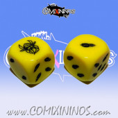 Set of 2d6 Dwarf nº 3 Dice Red - Akaro