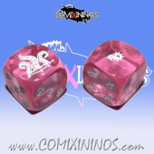 Set of 2d6 Rotten Dice Translucent Pink - Akaro