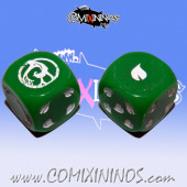 Set of 2d6 Wood Elf Dice - Akaro