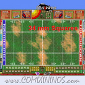 34 mm Basic Plastic Gaming Mat with Parallel Dugouts - Comixininos