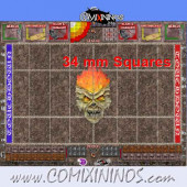 34 mm Undead Plastic Gaming Mat with Parallel Dugouts - Comixininos
