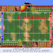 34 mm Basic Plastic Gaming Mat with BB7 and Crossed Dugouts - Comixininos
