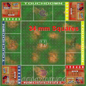 34 mm Plastic Gaming Mat Crossroad 4 Players / Death Bowl - Comixininos
