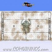 34 mm Norse Snow Plastic Gaming Mat  NO Dugouts - Comixininos