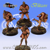 Bretonnian - Set of 4 Spartan Blitzers - Meiko Miniatures