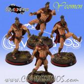 Bretonnian - Set of 4 Spartan Yeomen - Meiko Miniatures