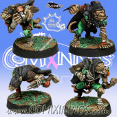 Ratmen - Set of 4 Gutter Runners - Meiko Miniatures