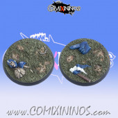Set of Two 40 mm Fantasy Football Bases - Tabletop Arts