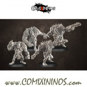 Orcs - Set of 4 Black Orcs - Punga Miniatures