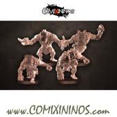 Orcs - Set of 4 Magma Blitzers with Mask - Punga Miniatures