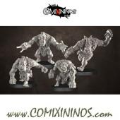 Orcs - Set of 4 Toa Blitzers without Mask - Punga Miniatures