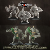 Orcs - Set of 5 Orc Linemen - Punga Miniatures