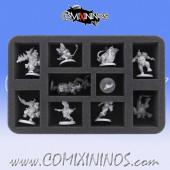 50 mm Foam Tray for 10 Star Player Miniatures - Feldherr