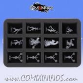 50 mm Foam Tray for 12 Cheerleader Miniatures  -  Feldherr