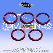 Set of 5 Agility +1 Skill Rings for 25mm Bases - Comixininos
