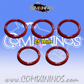 Set of 5 Armour +1 Skill Rings for 25 mm Bases - Comixininos