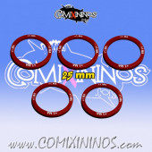 Set of 5 Movement +1 Skill Rings for 25 mm Bases - Comixininos