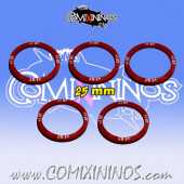 Set of 5 Strength +1 Skill Rings for 25 mm Bases - Comixininos