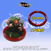 Set of 5 Strength +1 Skill Rings for 32 mm Bases - Comixininos