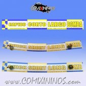 29 mm Range Ruler 1 mm Thick - Yellow and Blue - Spanish