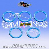 Set of 5 Accurate Skill Rings for 25 mm Bases - Comixininos