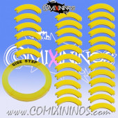 Set of 30 Yellow Agility Puzzle Skills with No Text for 32 mm Bases - Comixininos