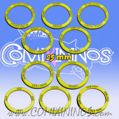 Set of 10 Agility Skill Rings for 25 mm Bases - Yellow