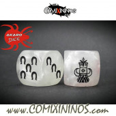 Set of 2d6 Evil Dwarf Dice - Akaro