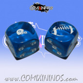 Set of 2d6 Human Dice nº 1 Blue - Akaro