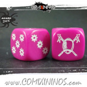 Set of 2d6 Pink Amazon Dice - Akaro