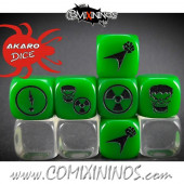 Set of 3 Golem Gamma Rays Superhero Block Dice Mod08 - Akaro