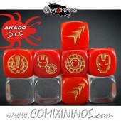 Set of 3 Iron Superhero Block Dice Mod09 Red - Akaro