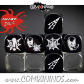 Set of 3 Venom Superhero Block Dice Mod11 Black - Akaro