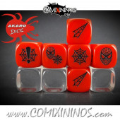 Set of 3 Spider Superhero Block Dice Mod12 Red - Akaro