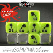 Chain Ball Fanatic Skill Dice Lime Green - Akaro