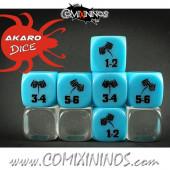 Doom Diver Skill Dice Aqua Blue - Akaro