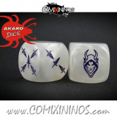 Set of 2d6 Dark Elf Dice - Akaro