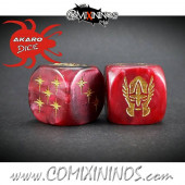 Set of 2d6 High Elf Dice - Akaro