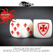 Set of 2d6 Brettonian Dice - Akaro