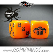 Set of 2d6 Evil Warrior Dice - Akaro
