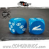 Set of 2d6 Lizardmen Dice - Akaro