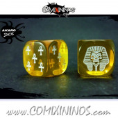 Set of 2d6 Egyptian Dice - Akaro