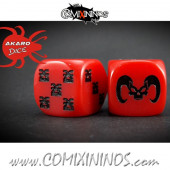 Set of 2d6 Demon Dice - Akaro