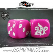 Set of 2d6 Rotten Dice Opaque Pink - Akaro
