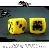 Set of 2d6 Yellow Ogre Dice - Akaro