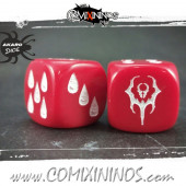 Set of 2d6 Vampire Dice - Akaro