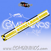 29 mm Range Ruler 1 mm Thick - Yellow and Black - German
