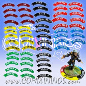 Complete Set of 59 Puzzle Skill Rings for 32 mm Bases Multicolor - Comixininos