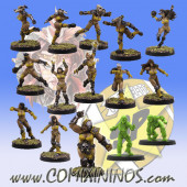 Amazons - Amazon Team of 15 Players with Female Ogre - SP Miniaturas
